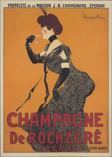Champagne De Rochegre by Leonetto Cappiello, circa 1920